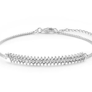 Jewelry - Silver plated 1.4 CTW Double Shoulder bracelet.